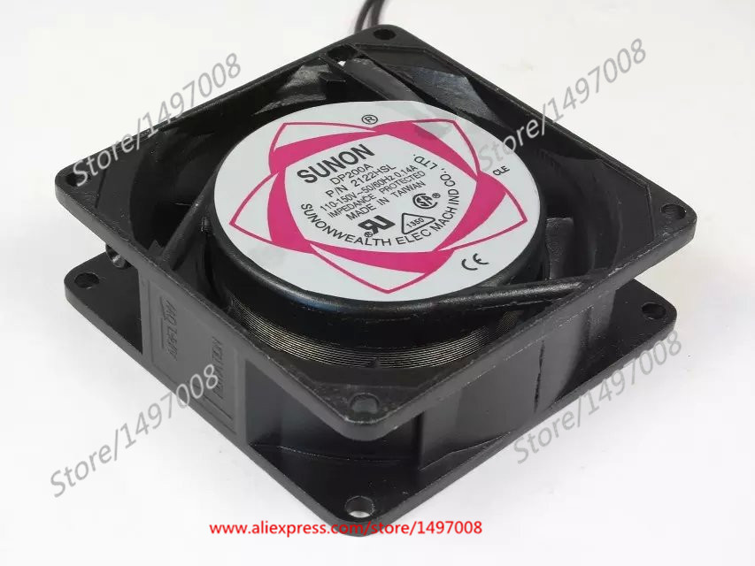 Free Shipping For SUNON DP200A P/N 2122HSL AC 110-150V 0.14A 2-wire 90mm 80X80X25mm Server Square Cooling fan free shipping original sunon 4020 12v 0 7w gm1204pkv2 a ultra quiet 2 wire cooling fan