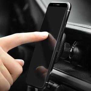 Image 2 - HOCO CA23 Đa Năng Từ Tính 360 Độ BẰNG Da PU Núi Lỗ Thông Khí Giữ Điện Thoại Chân Đế cho iPhone X