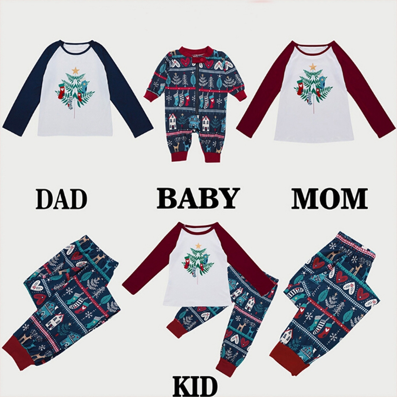 Xmas Family Women Christmas Pajamas Set Womens Mens Kids Sleepwear Nightwear
