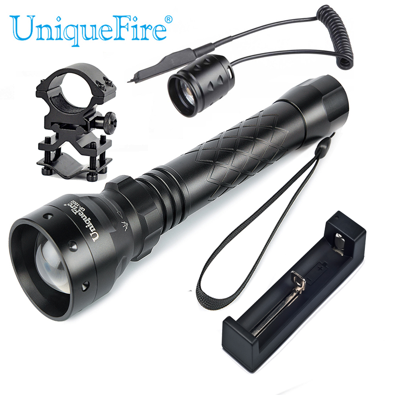 UniqueFire 1502 IR 940NM LED Zaklamp Zaklamp Zoomable Infrarood - Draagbare verlichting