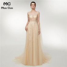 2018 Illusion A-Line Prom dresses Long Dress for