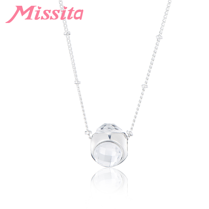 MISSITA Romantic Clear Colorful Crystal Charms Necklaces for Women Brand Fashion Jewelry Mothers Day Gift Hot Sale choker