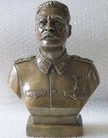 12Western Art Bronze Copper sculpture Joseph Stalin Bust statue