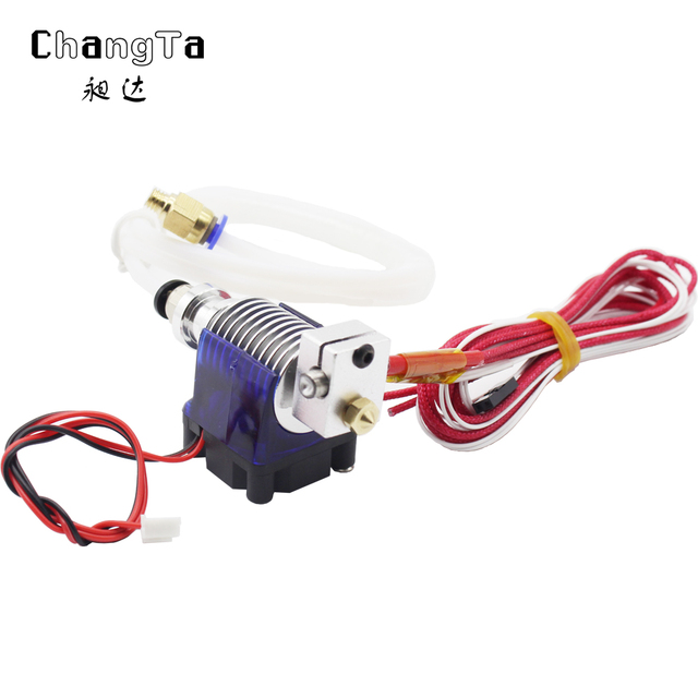 CHANGTA 3D J-head V6 hotend Bowden extruder J-head 1.75mm/3mm For Makerbot Reprap 3D printer free shipping