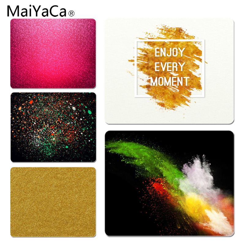 MaiYaCa New Designs Enjoy Every Moment Powder Color Computer Gaming Mousemats Size for 180x220x2mm and 250x290x2mm Mousepad