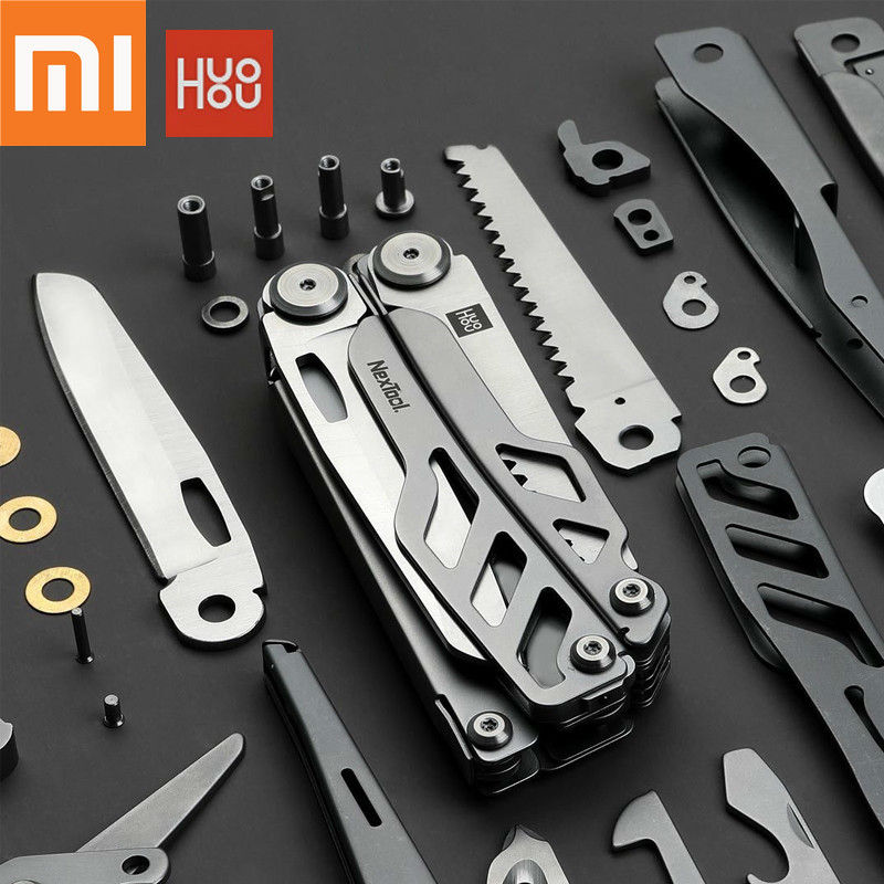 Original Xiaomi Mijia huohou multi function pocket folding knife 420J2 stainless steel blade hunting camping survival