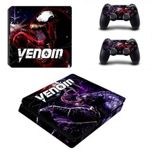 Venom Design PS4 Slim Sticker Vinyl Skins for Sony Playstation 4 Slim Console and Two Wireless Controller