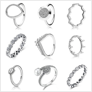 9 Style 925 Sterling Silver Ri