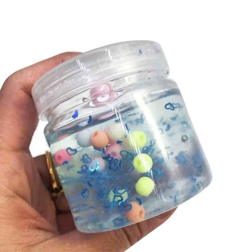 2018 пушистая плавающая слизь антистрессовая Хрустальная бусина слизь DIY игрушка для детей интеллектуальная шлама прозрачная слизь игрушечная глина