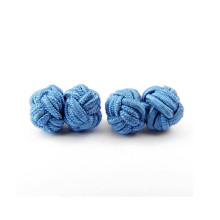 50pair Silk Knot Cufflinks Upscale Men's Classic Double Rope Ball Knot Shape Cuff Links Handmade Silk Knots Cuff Link for Mens недорого