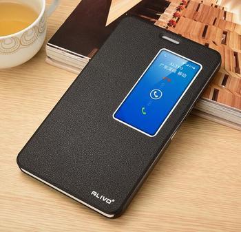 Per Huawei Honor Caso di X2 di Lusso Dell'annata Singola Finestra di Vibrazione Del Basamento Custodia In Pelle Per Huawei Honor X2 MediaPad X2 del telefono copertura