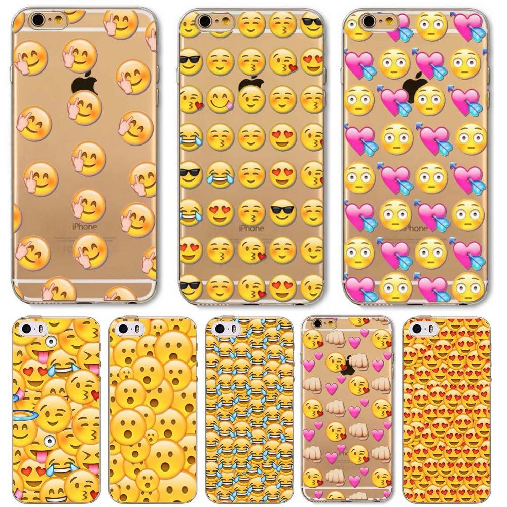 online retailer d4f72 91649 Emoji Emoticons Case For Apple iPhone 6 6s 6Plus 6s Plus 5 5s ...