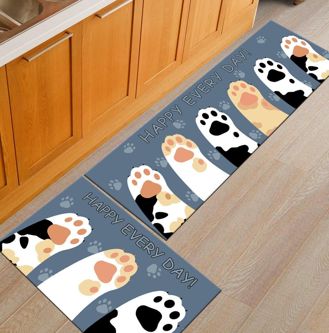 Moderne Cartoon 3D Druck Küche Teppich Teppich Matte Set Lange ...