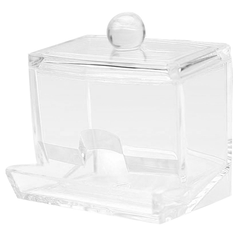 Cotton Swab Storage Dispenser Clear Cotton Ball Swab Holder Cotton Bud Storage Box Cosmetics Makeup Storage Holder Box Organiz(China)