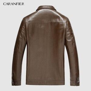 Image 4 - Chaquetas de piel de oveja auténtica para hombre, abrigos ajustados informales para motocicletas, prendas de vestir exteriores, abrigos, envío gratuito con DHL, envío M 4XL