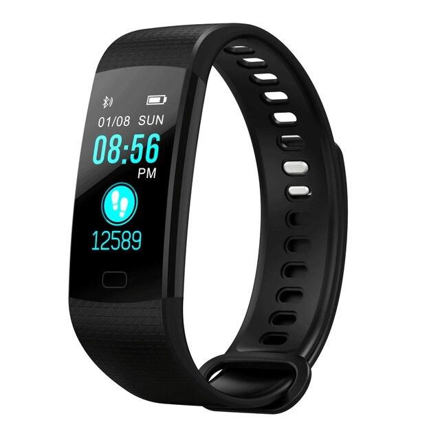 TimeOwner Banda Intelligente Y5 Frequenza Cardiaca Monitor di Pressione Sanguigna di Alta Luminosità Dello Schermo Variopinto Smart Wristband Del Braccialetto di Notifica