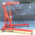 2T folded hydraulic shop crane auto engine jib lifting crane car lifting hoist foldable