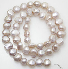 8-9X7-8mm Natural Lavender Real Pearl Baroque Loose Beads 14.5 Long Strand 16 inches 30 40mm aaa natural lavender fireball baroque pearl loose strand