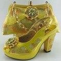 Новая Мода Африканские Обувь И Соответствующие Мешок Наборы Для Свадьбы & Партии итальянские Дамы На Высоких Каблуках Туфли И Сумки Набор Для Партии ME6605