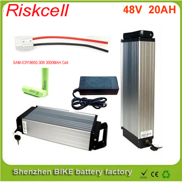 48V 20AH electric bike battery lithium battery power battery 48V 1000w bike battery Aluminum housing with   BMS For Samsung Cell free customs taxes super power 1000w 48v li ion battery pack with 30a bms 48v 15ah lithium battery pack for panasonic cell