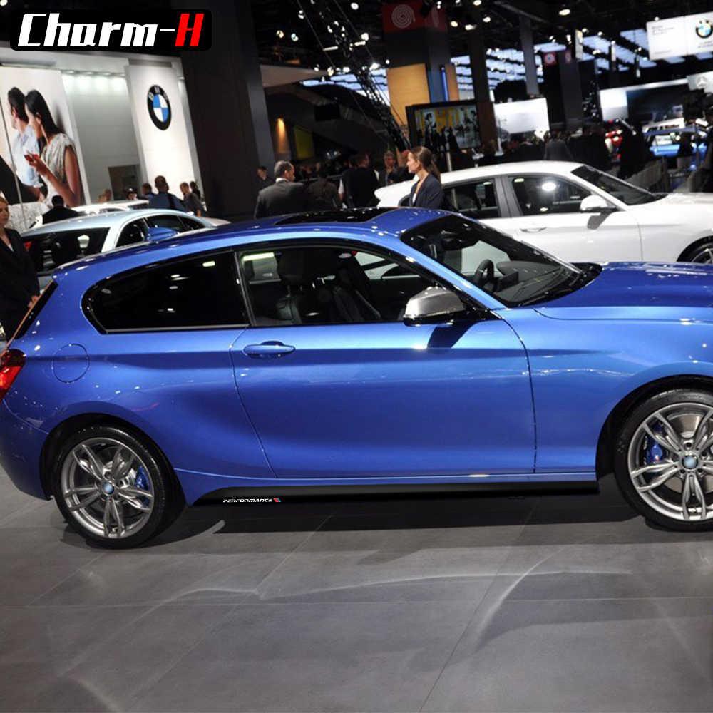 2 個新スタイル M パフォーマンスサイドスカート敷居ストライプ BMW 1 シリーズ用 F20 F21 118i 120i 125i 128i 135i M スポーツ