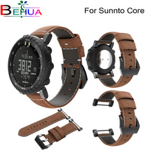 Brand new and high qualityLuxury Watchband Leather band Strap Replacement Leather Watch Bracelet Strap Band For Suunto Core цена и фото