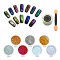 Nuevo 14 Gel de Color de Esmalte de Uñas Glitter silver mirror chrome polish nail powder powder uñas vtirka Espejo Cromo Pigmento BS610