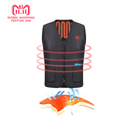 2018 New Electric Heated Vest Outdoor Riding Skiing Fishing Waterproof USB Charging Clothing Keep Warm Winter Heating Jacket