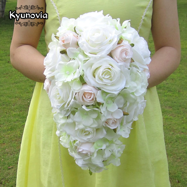 Online Shop Kyunovia Brief Decoration Cascading Bouquet Bride ...