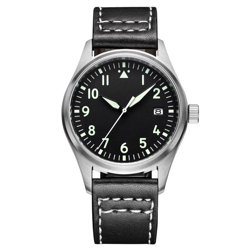 Mannen Automatische Diver Horloge Waterdicht 200m 316 Rvs Mechanische C3 Lichtgevende Horloges Saffier Glas mekanik kol saati-in Mechanische Horloges van Horloges op  Groep 1