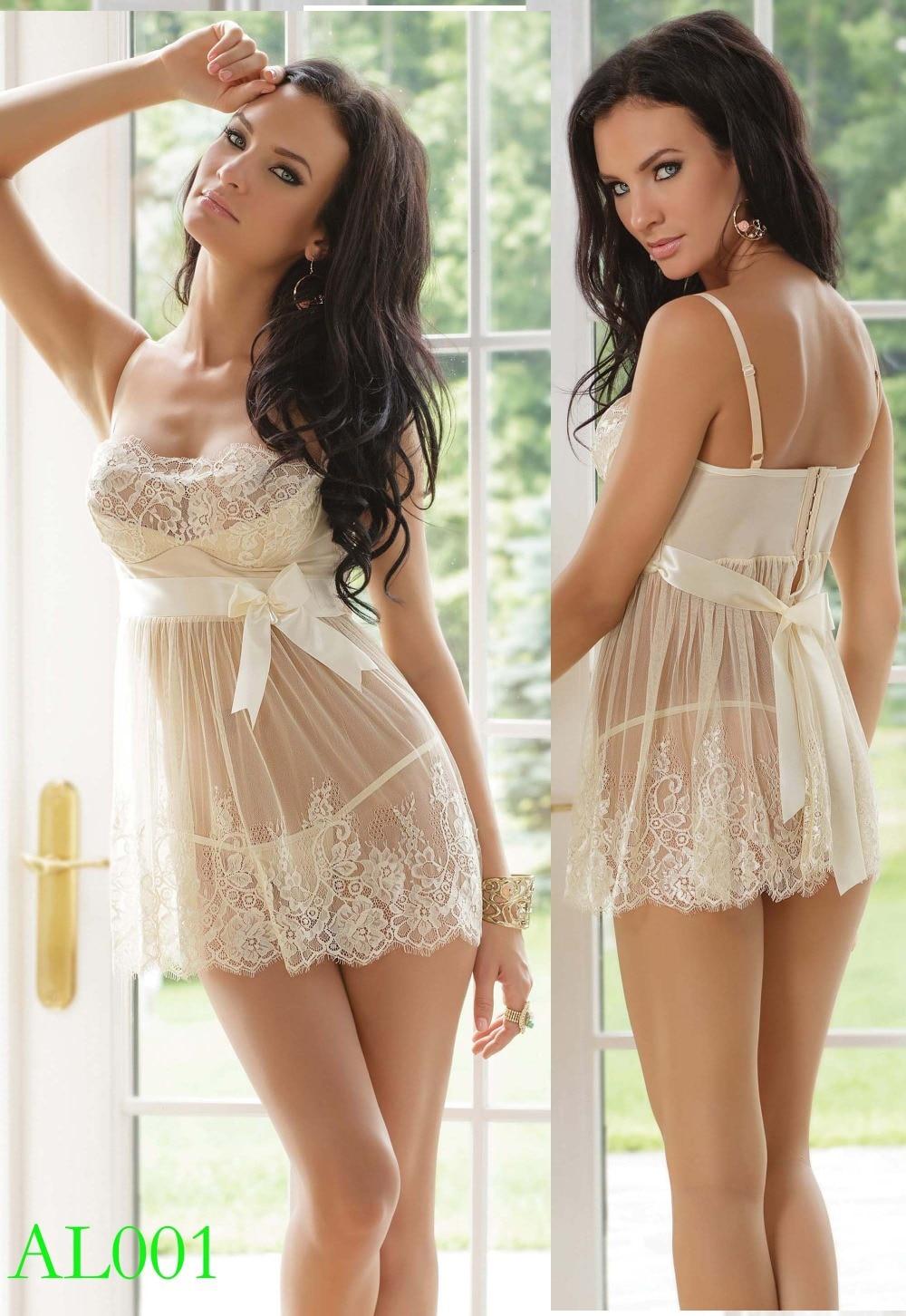 New Wedding Bridal Night Y Lace Uniform Sleepwear Teddy Underwear Club Wear Clubwear Babydoll White Dress Al001 In Exotic Arel From Novelty