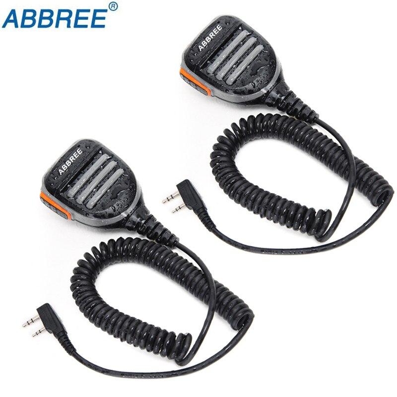 2PCS Baofeng Microphone PTT Speaker Mic For Kenwood BAOFENG UV-5R 5R BF-F8HP