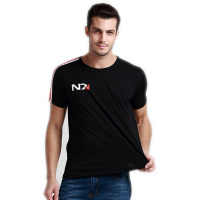 Free Shipping N7 Mass Effect 3 T Shirt Systems Alliance Military Emblem Tee T Shirt