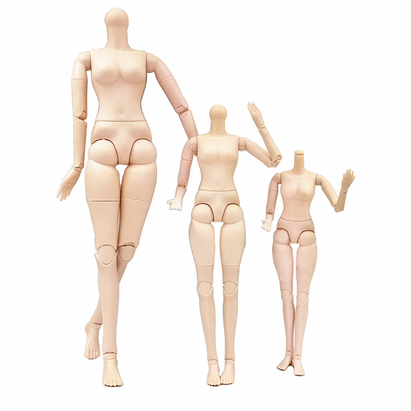 14/18/22 Inch Movable Jointed BJD Doll Body Toy Female Naked Nude Body with Shoes No Head Accessories Toys for Girls