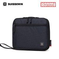Swiss Classic Wallet Female Unisex Designer Day Clutch Purse Bag Black Multi Pocket Male Clutch 7