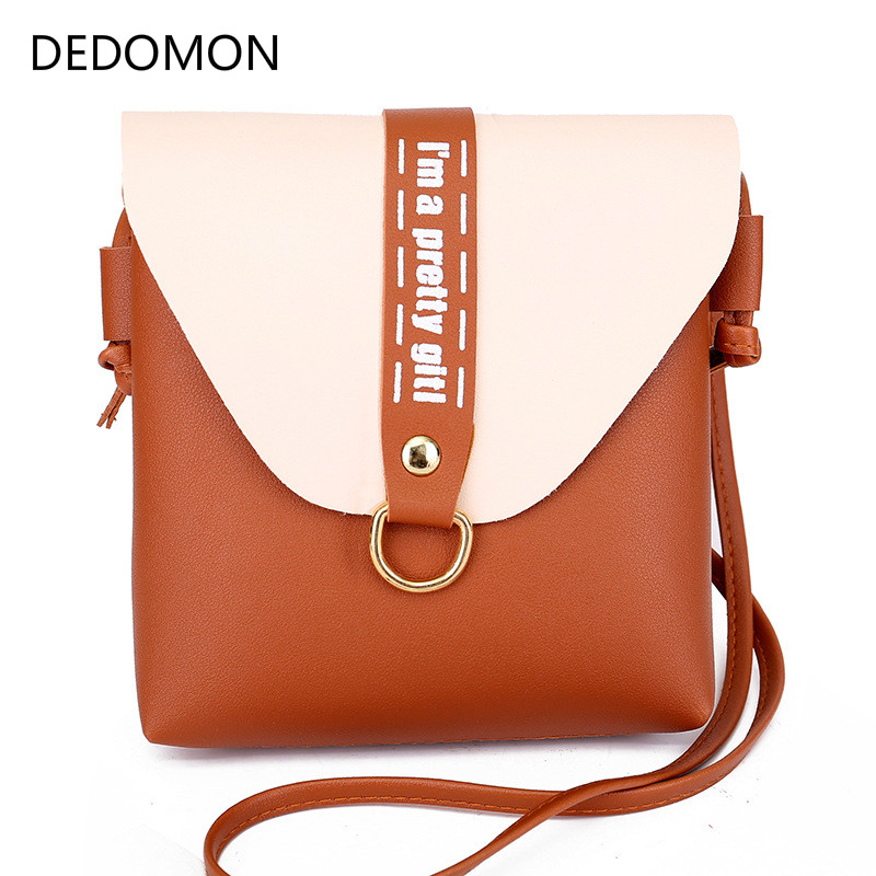 Fashion Women Square Flap Bag Mini Messenger Crossbody Bags Shoulder PU Leather Handbags Casual Mini Small Mobile Handbag Bolsa
