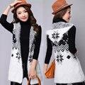 2017 Nueva Otoño Invierno Mujeres Seveless Cardigans Suéter Caliente Casual Diseño Largo Femenino Hecho Punto Suéter Chaqueta de Punto de Señora
