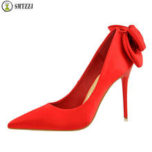 Luxury 2019 Women Pumps High Heels Shoes Woman Stiletto Pointed Female Sexy Party Shoes Office Lady Wedding Bridals Plus Size cocoafoal woman green high heels shoes plus size 33 43 sexy stiletto red wedding shoes genuine leather pointed toe pumps 2018