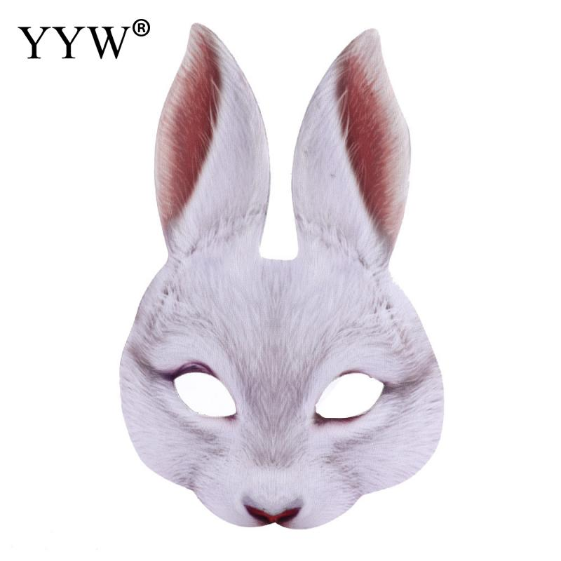 Rabbit Masks Mascaras Animales Prop Halloween Mask Unisex Carnival Holiday Party Accessories Cospaly Tools Realistic Masker