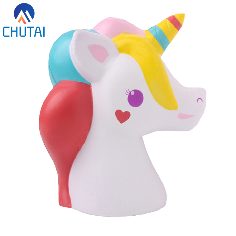 Jumbo Kawaii Squishy Galaxy Unicorn Head Squishies Slow Rising Soft Cream Scented Kids Toy Party Xmas Decor Gift 12.5*12*6CM