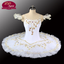 White Swan Lake Ballet Tutu Costumes Professional Girls Classical Stage Dancewear LD0029