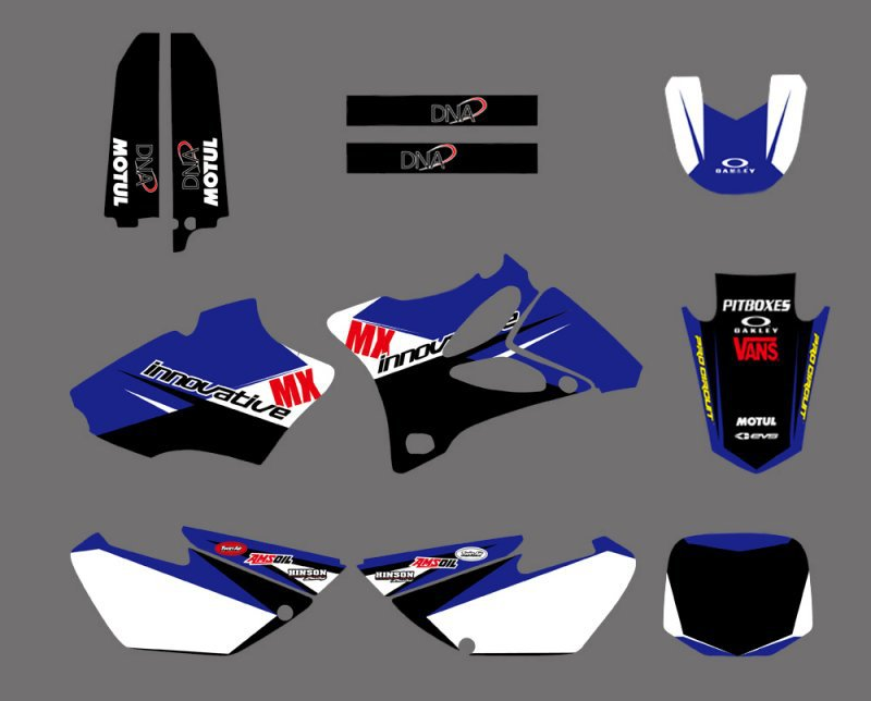Motorcycle Dirt Bike TEAM GRAPHICS & BACKGROUNDS DECALS STICKERS Kits For Yamaha YZ85 YZ 85 2002 -2014 Motocross 3M