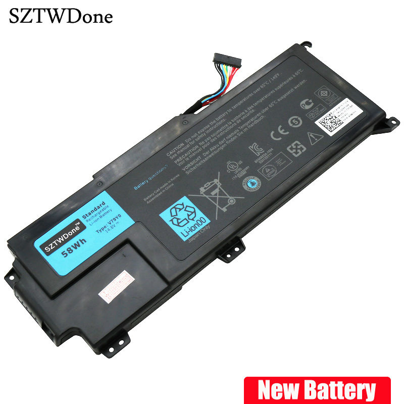 SZTWDone V79Y0 Laptop Battery for Dell XPS 14z Series XPS 14Z-L412X XPS 14Z-L412Z V79YO YMYF6 0YMYF6 14.8v 58wh