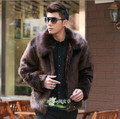 2017 Winter Fashion Mens Faux Fur Coat Thick Warm Jackets Full Length Parka Fox Fur Coats Plus Size XXXL 3XL Men Overcoat MA555