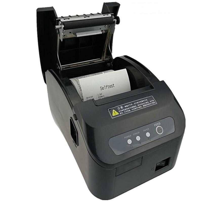 En gros haute qualité pos imprimante 80mm reçu thermique petit billet code à barres imprimante automatique machine de découpe imprimante - 4