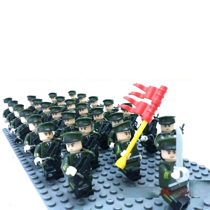phalanx Original Blocks Educational Toys Swat Police Military Weapons Gun Model City Accessories Lepin Mini figures dangerously bound