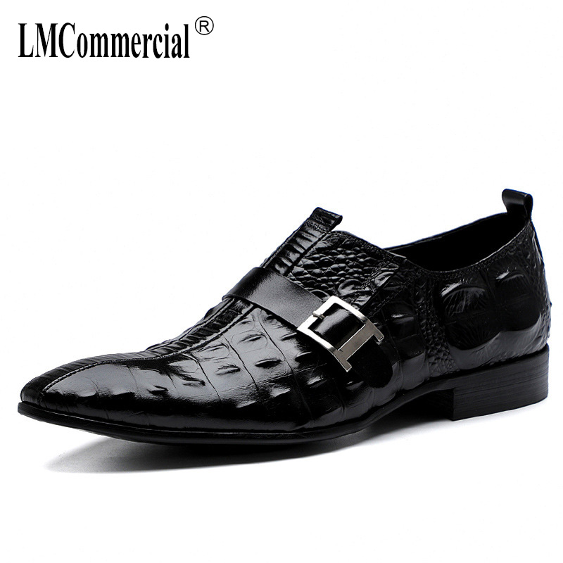 Spring Summer High Quality Genuine Leather Shoes Male Mens Business Dress men Men Dress Shoes British retro men shoes cowhide in Formal Shoes from Shoes