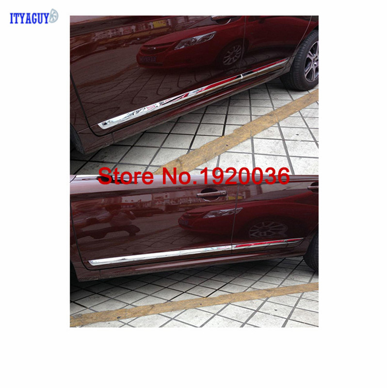 Car styling Chrome Body Side Door Trim Molding Exterior cover for VOLVO XC60 Door Side Molding Trim car accessories accessories fit for 2013 2014 2015 2016 hyundai grand santa fe side door line garnish body molding trim cover