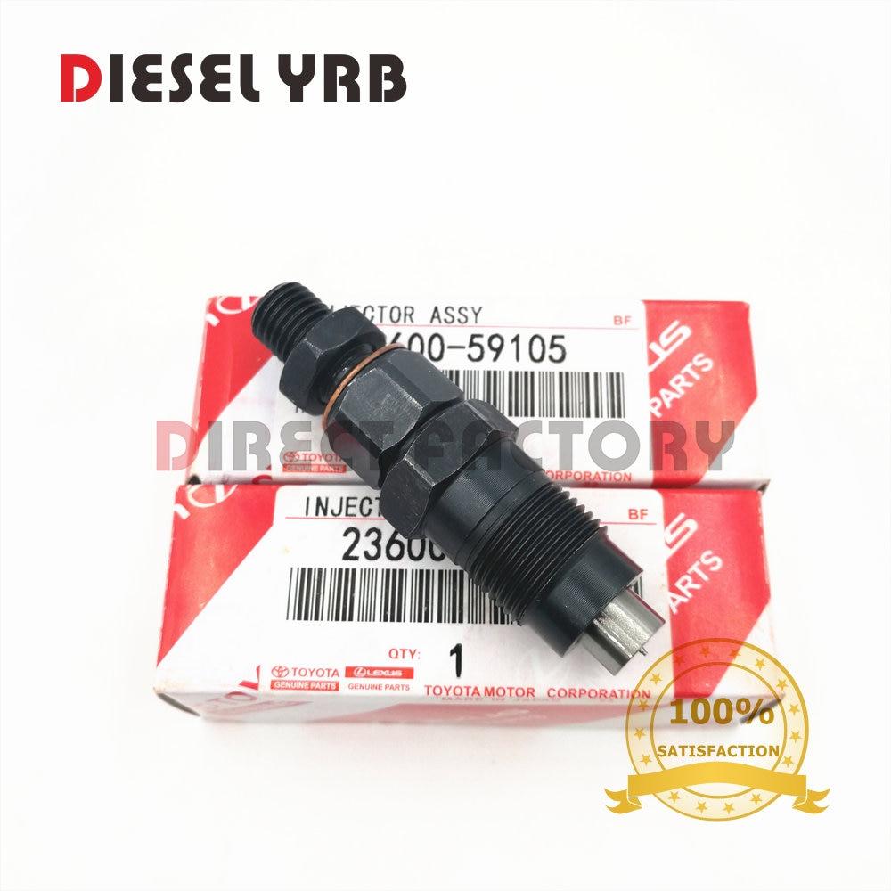 2L 3L 23600 59105 inyector boquilla assy para toyota CRESSIDA corona HILUX HIACE LAND CRUISER DYNA GX81 GX70 LN200 KZJ9 LY21 KZH1-in Control y partes de inyección de combustible from Automóviles y motocicletas