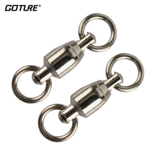 Goture 200pcs/lot Ball Bearing Swivel with Solid Ring DQZC Stainless Steel Fishing Swivels Fishing Hooks Fish Accessories